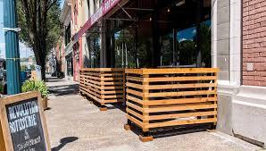 restaurant patio fence.  Restaurant Cedar Patio Fence Throughout Restaurant Patio Fence