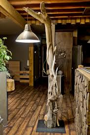 Driftwood Lighting Furniture Driftwood Floor Lamp In Natural Design With Lamp Hanged