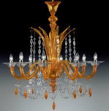 orange color modern murano glass chandelier dml6009k8 chrome finish