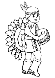 Small Picture Thanksgiving Coloring Pages Of Native Americans Of Indian Men