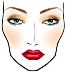 Bridal Face Chart I Would Only Use This Face Chart Design On A More Vintage