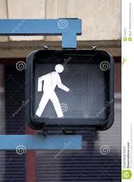 Walking Sign Light Walk Sign Stock Image Image Of Shape Blue Crosswalk