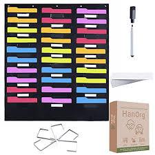 30 Pocket Storage Pocket Chart Includes 5 Over Door Hooks