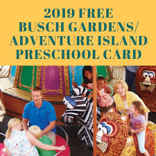 2019 free busch gardens adventure island pre card fl residents only