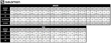 salomon size charts head vector evo 110 15 16 head botas esqui hombre 605037