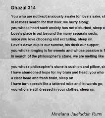 ghazal poem by mewlana jalaluddin rumi poem hunter