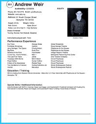 Resume Examples For Actors Actor Resume Examples Child Theater Sample Doc Audition Movie Acting