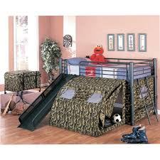 bunk bed with slide and tent. Coaster Army Loft Bed With Slide And Tent Bunk K