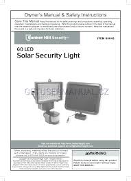 Solar Security Light Item 69643 Harbor Freight Tools Power Equipment 69643 Owners Manual
