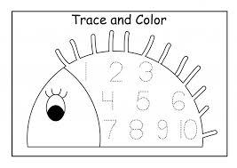Kindergarten Number Tracing Worksheets 1 10 Free Worksheets ...