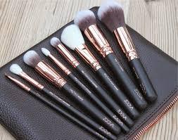 good as gold zoeva rose gold makeup brush set