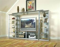 baby proof entertainment center glass entertainment center series contemporary silver and glass entertainment center baby proof