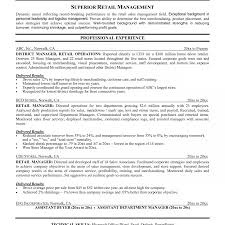 resume objectives for managers sample retail store manager resumee line for operation assistant