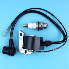 Ignition Coil Module Spark Plug Set For Husqvarna 262xp 55