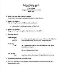 40 Sample Business Meeting Agenda Sample Templates New Business Meeting Agenda Format