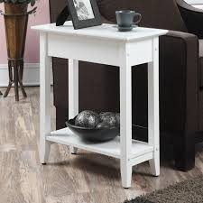 convenience concepts american heritage rectangle wood end table with flip top and shelf hayneedle