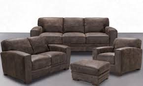 Brown leather living room furniture Brown Couch Orange Ponce 100 Italian Leather 4piece Contemporary Living Room The Dump Leather Living Room Furniture Outletthe Dump Luxe Furniture Outlet