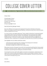Sample Cover Letter For Resume College Student Internship