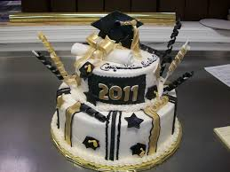 Black And Gold Graduation Cake Graduation Cakes Walmart
