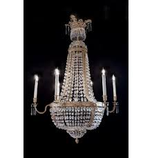 living fascinating bronze and crystal chandelier
