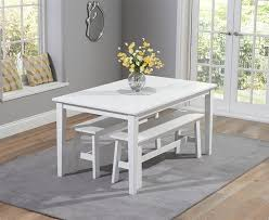 white dining bench. Chichester 150cm White Dining Table With 2 Large Benches Bench R