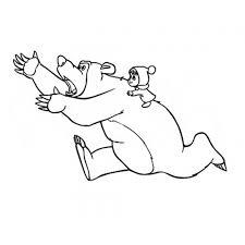 Disegno Di Masha E Orso Da Colorare Per Bambini