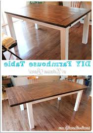 farmhouse table with extension leaves marvelous diy self storing