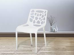morgan white plastic garden chair