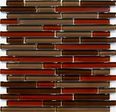Kitchen Backsplash Red Details About 10sf Natural Red Glass Mosaic Tile Kitchen