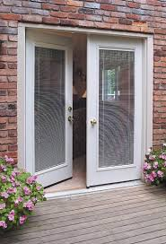 french patio doors with mini blinds