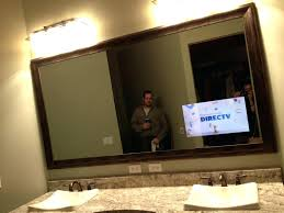 tv mirror diy bathroom vanity one way mirror tv diy