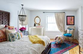 homegoods rugs eclectic bedroom and beautiful bohemian chandelier colorful pillows creative oval mirror revival rug unique