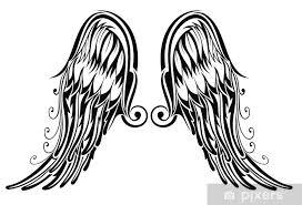 Fototapeta Vinylová Křídla Tetování