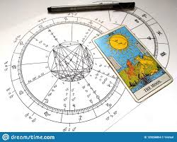 Difficult Natal Chart Astrology Natal Chart Tarot Card The Moon Stock Illustration