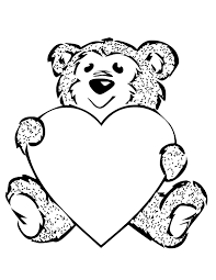 Small Picture Coloring Pages heart bear coloring page heart bear colouring sheet