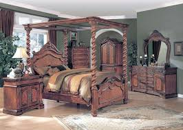 king poster canopy bed oak 6 piece bedroom set w chest king size canopy poster