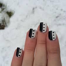 Black And White Simple Nail Design   Nail Art   Pinterest   Black ...