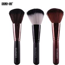 2017 new professional round makeup brush cosmetic loose powder foundation pact powder blusher contour highlighter beauty tool in makeup scissors from