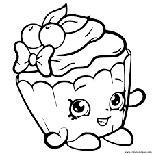 Small Picture Cherry Nice Cupcake from shopkins season 6 Coloring pages Printable