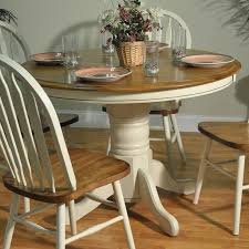 circular oak dining table round farmhouse table