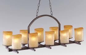 veranda linear chandelier 10 light rustic iron candle veranda linear chandelier