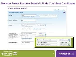 Monster Power Resume Search TM Finds Your Best Candidates ...
