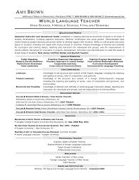 Spanish Teacher Resume Cover Letter In Spanish Teacher Sample