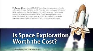 rosemary middle school teachers shana m barrineau class  class activity image for is space exploration worth the cost