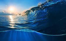 Ocean Waves Sunlight Scenery 4K ...