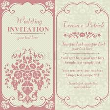 Baroque Wedding Invitations Antique Baroque Wedding Invitation With Flower Bouquet Pink And