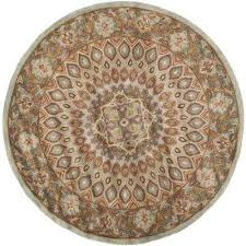 heritage blue grey 8 ft x 8 ft round area rug