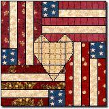 Best 25+ Patriotic quilts ideas on Pinterest | Quilting, Quilt ... & Flag and Heart free quilt block pattern -- uses paper piecing Adamdwight.com