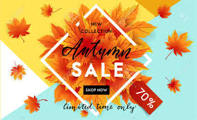 Fall Flyer Autumn Sale Flyer Template With Lettering Bright Fall Leaves