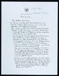 ronald reagan alzheimers letter the best resume with regard to ronald reagan alzheimers letter